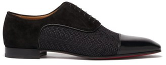 Christian Louboutin Greggo Leather Oxford Shoes - Black