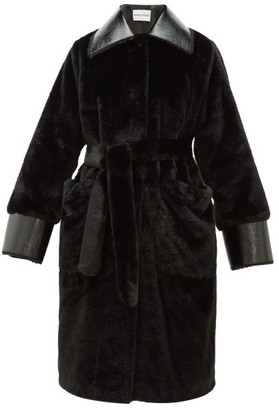 Stand Studio Pamella Faux-fur Coat - Black