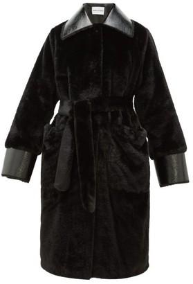 Stand Studio - Pamella Faux-fur Coat - Womens - Black