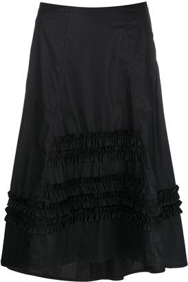 Molly Goddard Jane ruched-detail skirt