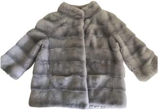 Santi Nello Grey Mink Coat for Women