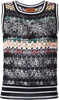 Missoni zigzag knitted tank