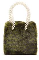 SHRIMPS Una leopard-print faux-fur bag