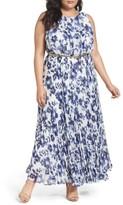 Eliza J Plus Size Women's Belted Floral Maxi Dress