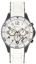 Marc by Marc Jacobs MBM2573 White Dial Silicone and Stainless Steel Bracelet Womens Watch