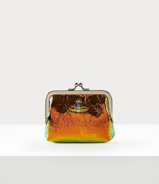Vivienne Westwood Archive Orb Frame Coin Purse Plain Orange