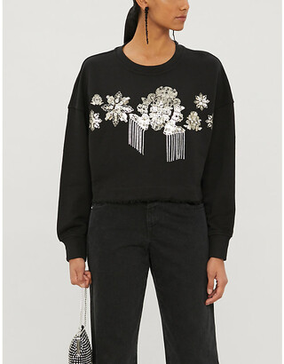Pinko Moltiplicare graphic-print cotton-jersey sweatshirt