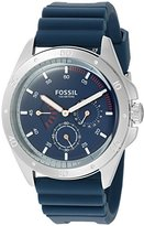 Fossil Mens CH3062 Sport 54 Multifunction Blue Silicone Watch