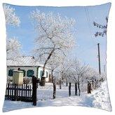 "iRocket - Winter - Throw Pillow Cover (14"" x 14"", 35cm x 35cm)"
