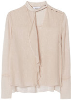 Derek Lam 10 Crosby Crinkled Lurex Shirt