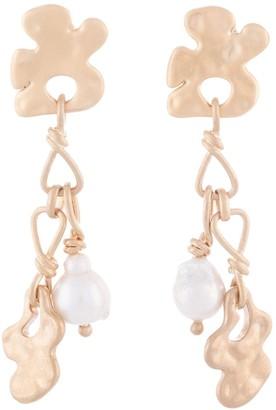 Ports 1961 Pearl And Amoeba Tassel Earrings