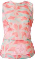 Giorgio Armani floral sleeveless blouse