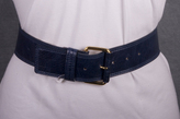 Leather Belt with Gold Buckle