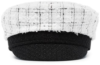 Ruslan Baginskiy Check Tweed Baker Boy Hat