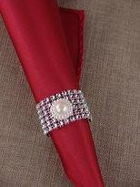 "Angel Isabella 200pcs of Napkin Ring Bling Pearl DIA 2""Ê"