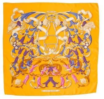 Hermes Le Mors A La Conétable Silk Scarf