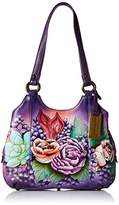 Anuschka Handpainted Leather 469-LLC Triple Compartment Medium Satchel