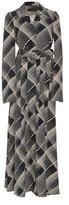 Co Printed Hammered Silk Shirt Dress