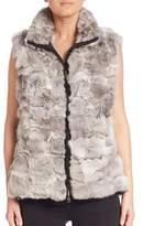 Glamour Puss Glamourpuss Reversible Rabbit Fur Vest