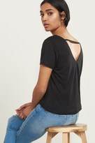 Dynamite Short Sleeve Tee with V-Back