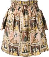 Burberry off-shoulder framed heads print top - women - Cotton - 8