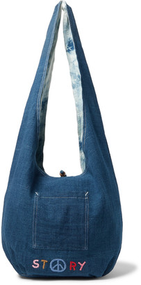 Story mfg. Logo-Embroidered Organic Cotton-Canvas Tote