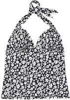 Joe Fresh Women's Print Halter Tankini, Black (Size M)
