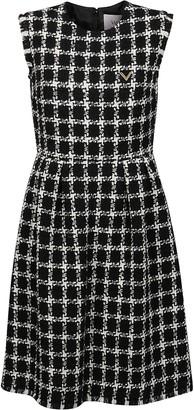 Valentino Tweed Checked Sleeveless Dress