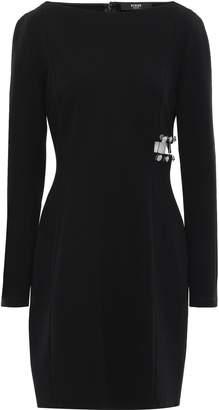 Versace Cutout Barbell-embellished Stretch-crepe Mini Dress