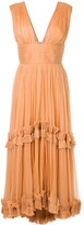 Maria Lucia Hohan pleated ruffle trim dress