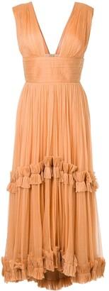 Maria Lucia Hohan pleated ruffle trim dress