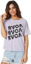 RVCA Electric Stack Tee Purple