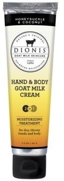 Dionis Hand and Body Goat Milk Cream, Honeysuckle and Coconut