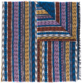 Missoni zig zag crochet knit scarf - women - Cotton/Modal - One Size