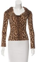 Blumarine Printed Long Sleeve Top