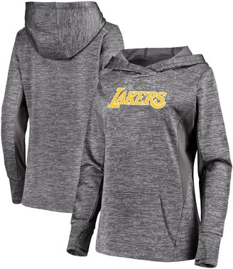 Women's Fanatics Branded Gray Los Angeles Lakers Showtime Done Better Pullover Hoodie