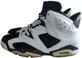 Jordan Air 6 White Leather Trainers