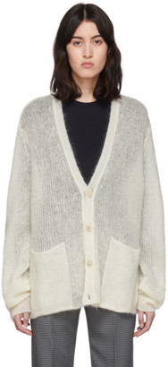 Maison Margiela Off-White Transparent Cardigan