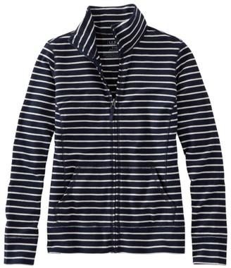 L.L. Bean Women's Ultrasoft Sweats, Full-Zip Mock-Neck Jacket Stripe