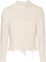 Marques Almeida Marques' Almeida - Frayed Denim Jacket - Cream