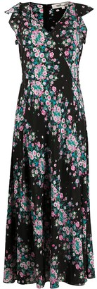 Diane von Furstenberg Floral-Print Long Dress