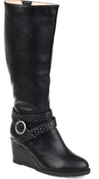Journee Collection Women's Comfort Wide Calf Garin Boot Women's Shoes