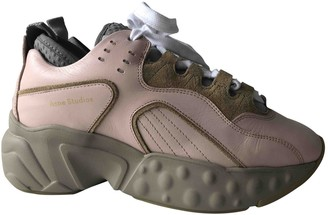 Acne Studios Manhattan Pink Leather Trainers