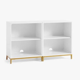 Pottery Barn Teen Blaire Double 2-Shelf Low Bookcase