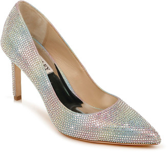 Badgley Mischka Godiva Multicolored Glitter Cocktail Pumps