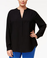 Anne Klein Plus Size V-Neck Blouse