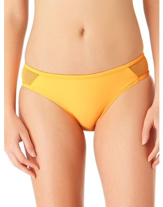 No Boundaries Juniors' Solid Mesh Scoop Swimsuit Bikini Bottom