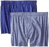 Hanes Men's Trim Fit Pima Cotton Check Boxer