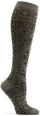 Ozone Women's Floral Mosaic Knee High Sock