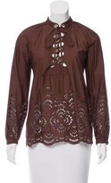 Gucci Lace-Up Eyelet Blouse w/ Tags